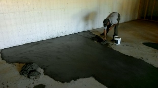 Once we finish the basement floor, no one will ever see that the patch is a different color.