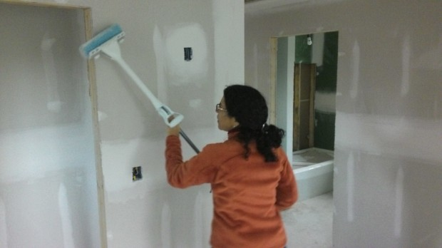 Abby's brilliant wall-cleaning idea that didn't quite work out.
