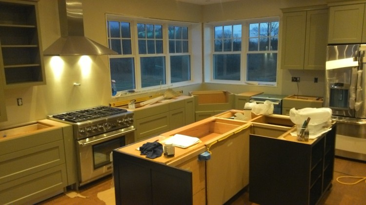 Several gorgeous appliances visible here... plus a better view of the island.