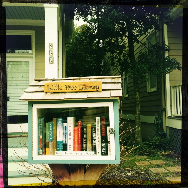 A little free library. (Creative Commons)