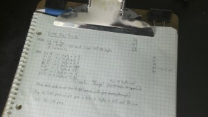 Quantity calc. (I've retrogressed to doing math on paper rather than on lumber.)