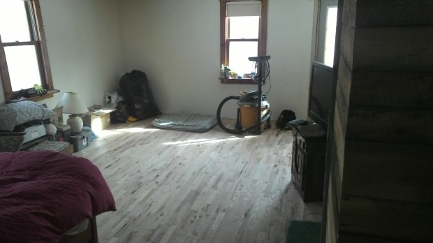 The new living room floor.