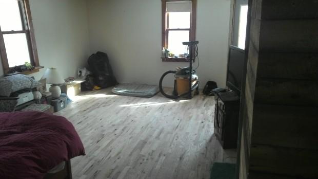 The new living room floor.