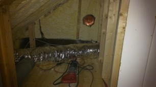 Dryer vent hole.