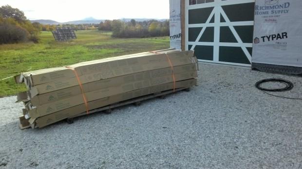 SO MANY BOXES of siding were delivered last October. All covering the house now!