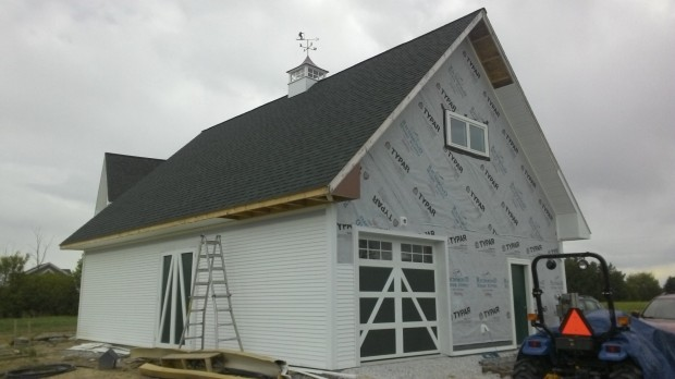 Lots of channels (plus some siding and soffit) on the Barn's backside.