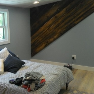 Baseboard in the master bedroom.