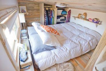 Lofted bedroom.