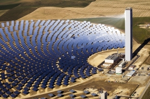 Concentrating Solar Power (CSP) array.