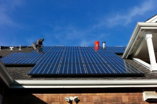 Photovoltaic (PV) installation on a roof.