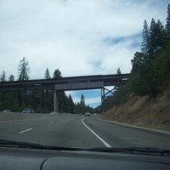 A built-up steel girder bridge.