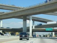 Concrete box beam bridge.