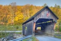Many covered bridges use timber beams.