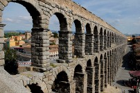 Roman aqueduct, Spain.