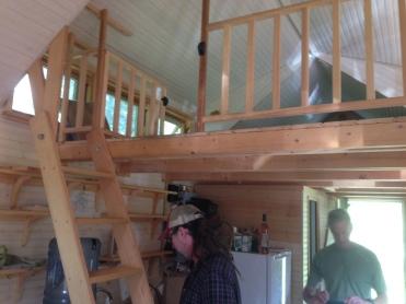 Ladder to the loft.