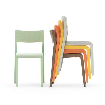 Alpha stacking chair.