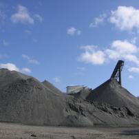 Sand and gravel (aka aggregate).